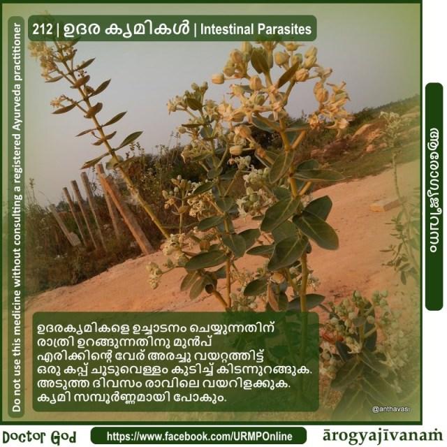 212 | ഉദര കൃമികള് | Intestinal Parasites