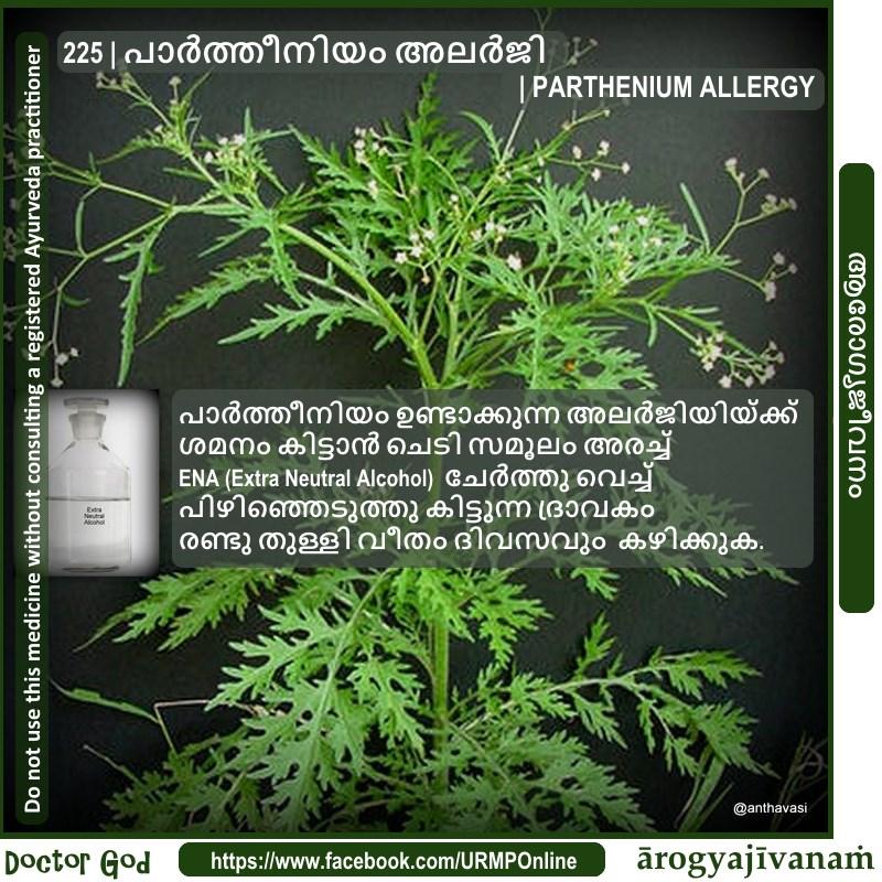 225 | പാര്ത്തീനിയം അലര്ജി | PARTHENIUM ALLERGY