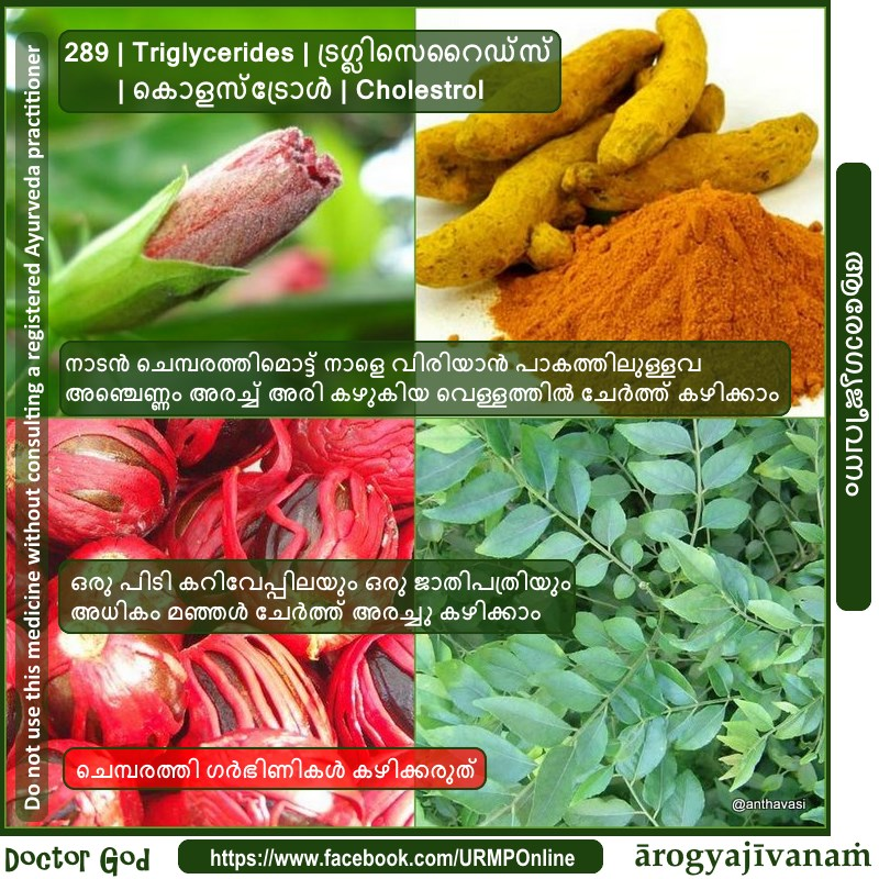 289 | Triglycerides | ട്രഗ്ലിസെറൈഡ്സ് | കൊളസ്ട്രോള് | Cholestrol